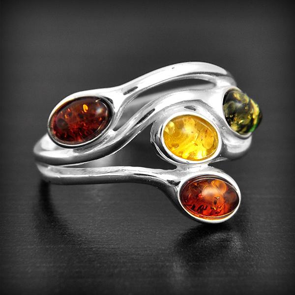 Bague en pierre d'ambre