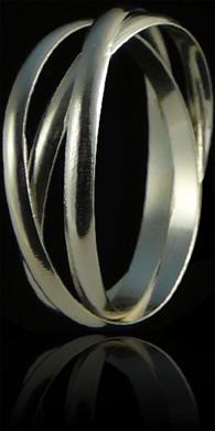 bague argent alliance 3 anneaux fins excalibur bijoux. Black Bedroom Furniture Sets. Home Design Ideas