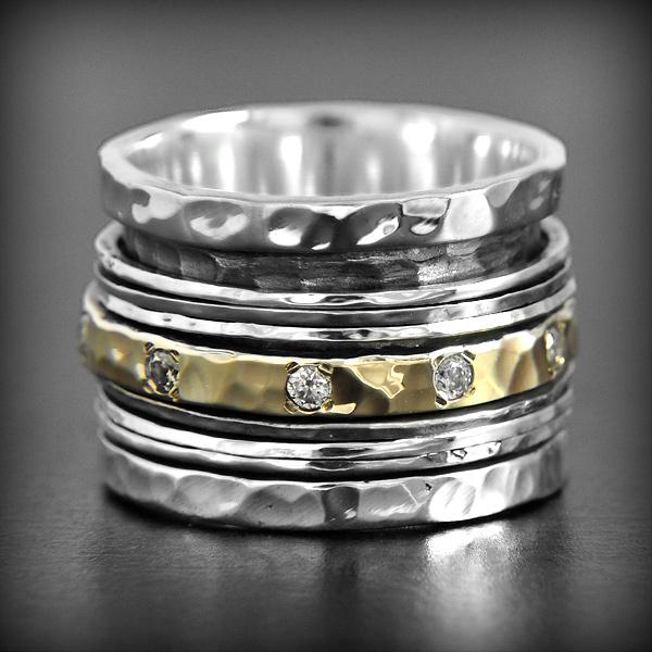 bague argent anneaux multiple zehira excalibur bijoux. Black Bedroom Furniture Sets. Home Design Ideas