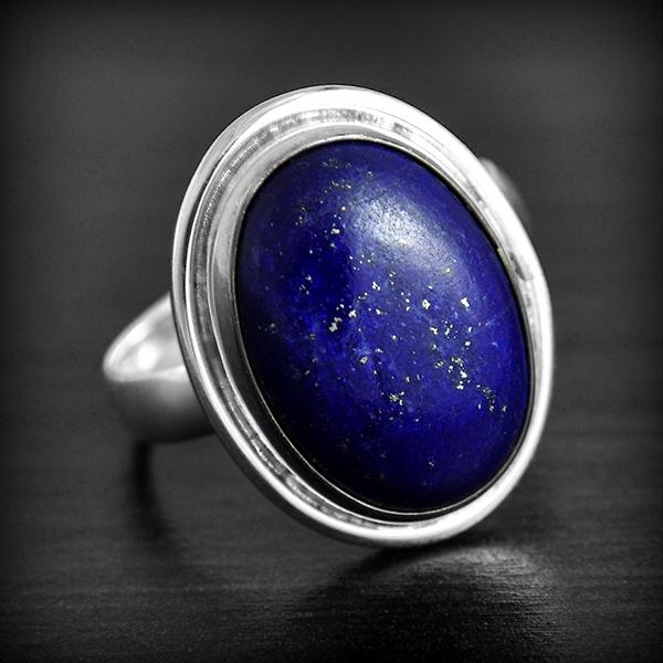 bague argent lapis lazuli excalibur bijoux. Black Bedroom Furniture Sets. Home Design Ideas