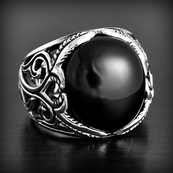 bague argent homme onyx cool costume jewelry for you. Black Bedroom Furniture Sets. Home Design Ideas