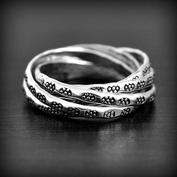 bague ethnique 5 anneaux argent excalibur bijoux. Black Bedroom Furniture Sets. Home Design Ideas
