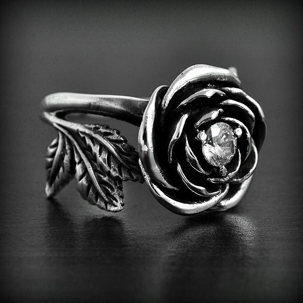 Bague rose argent