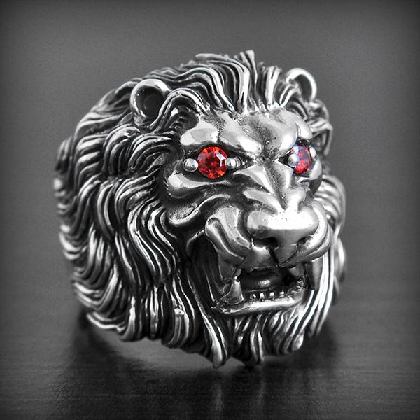 Bague en or homme lion
