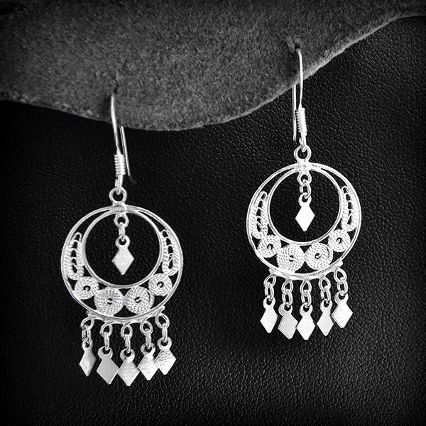 Boucles d 39 oreille argent rondes pampilles excalibur bijoux - Boite a bijoux boucle d oreille ...