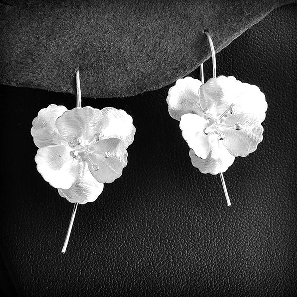 Fleurs D'oreille Argent Boucles Fleurs Boucles Cerisier D'oreille nP0OX8wk