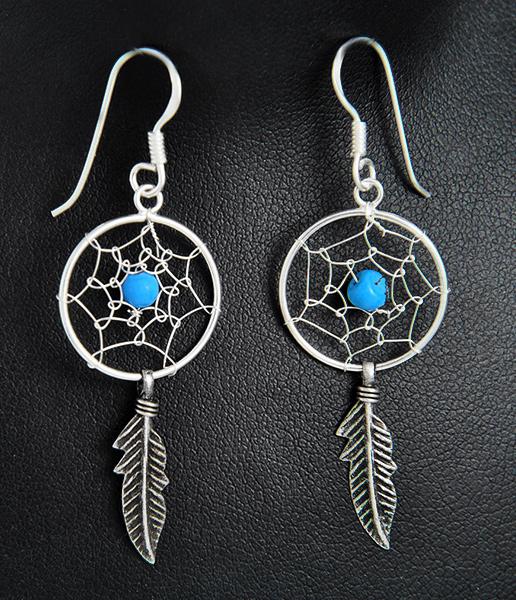 Boucles d 39 oreilles argent attrape r ve excalibur bijoux - Ou accrocher un attrape reve ...