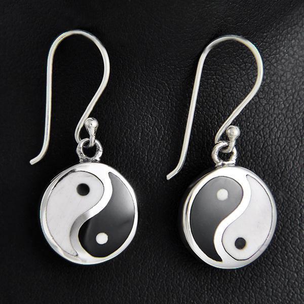 Boucles d'oreilles ying yang