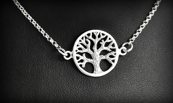bracelet argent arbre
