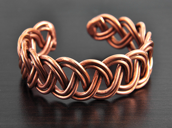 bracelet cuivre tress bien tre excalibur bijoux. Black Bedroom Furniture Sets. Home Design Ideas
