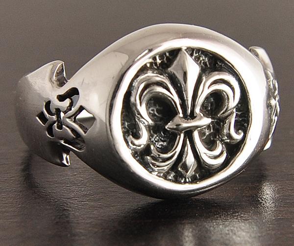 chevalière argent fleur de lys perceval | excalibur bijoux