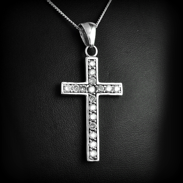 pendentif argent croix blanche excalibur bijoux. Black Bedroom Furniture Sets. Home Design Ideas