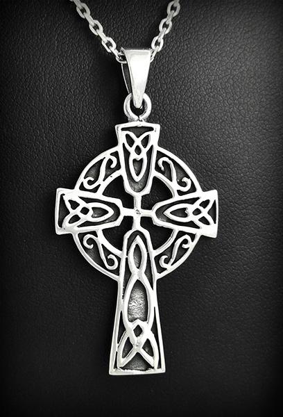 Pendentif Croix Celtique Argent Kilian