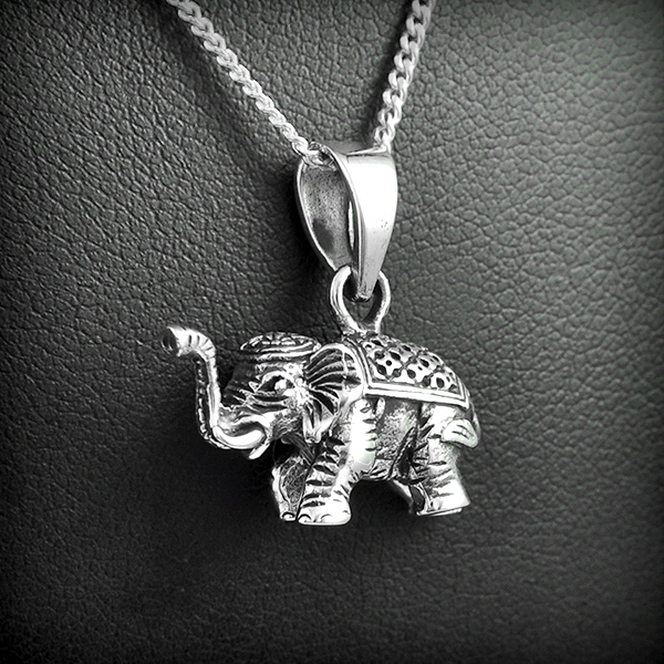 pendentif elephant argent excalibur bijoux. Black Bedroom Furniture Sets. Home Design Ideas