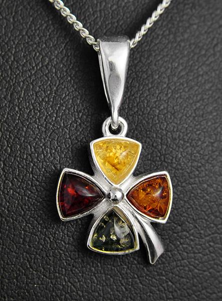 Pendentif tr fle argent ambre excalibur bijoux - Porte bonheur argent richesse ...